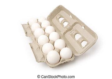 branca, ovos