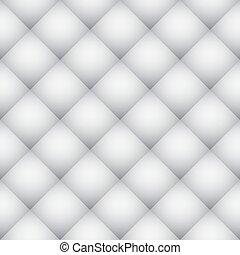 branca, padrão diamante, macio, parede, vetorial, texture.