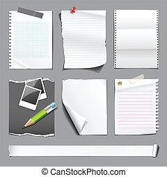 branca, papel, coleções