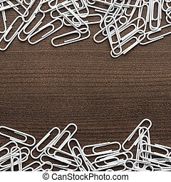 branca, papel recorta, ligado, a, tabela madeira