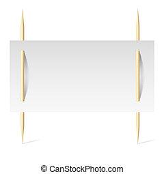branca, papel, toothpicks