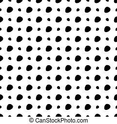 branca, pontos, experiência preta