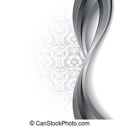 branca, prata, fundo