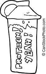 branca, pretas, caricatura, tremor proteína