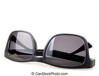 branca, pretas, isolado, óculos