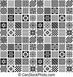 branca, pretas, seamless, fundo