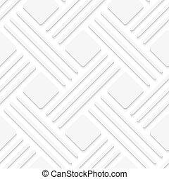 branca, quadrados, linhas