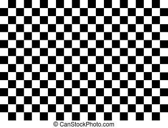 branca, quadrados, pretas