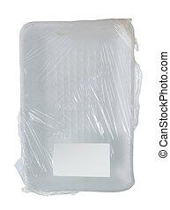 branca, recipiente, plástico
