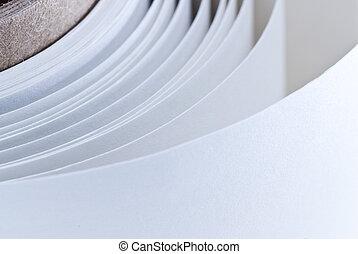 branca, rolo papel