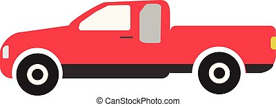 branca, seu, experiência., sinal, desenho, símbolo, caminhão, style., ui., vermelho, local, tailandia, logotipo, ícone, teia, app, apartamento, pickup