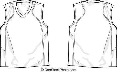 branca, sleeveless, camisa