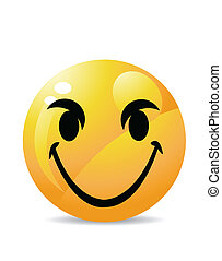 branca, smiley