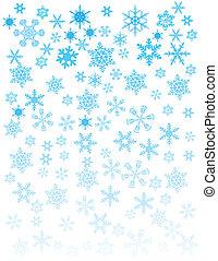 branca, snowflakes, fundo