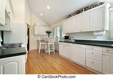 branca, suburbano, cozinha