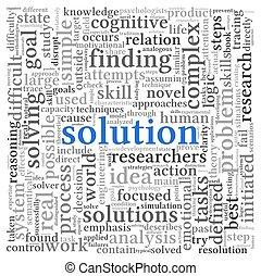 branca, tag, palavra, solução, nuvem