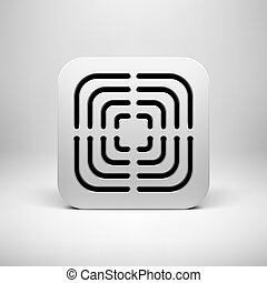 branca, tecnologia, app, modelo, ícone