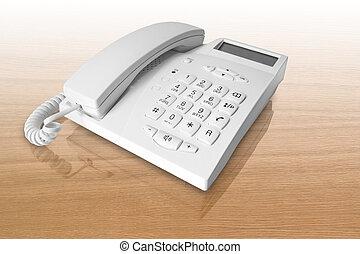branca, telefone escritório