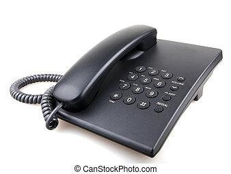 branca, telefone, isolado
