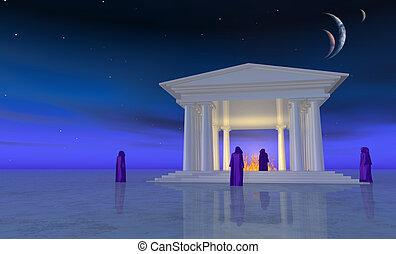 branca, templo
