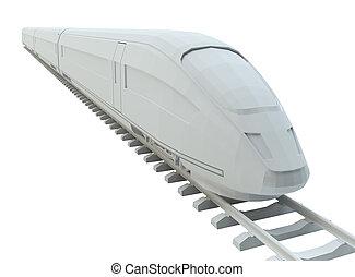 branca, trem alta velocidade
