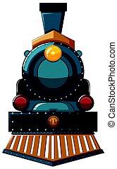 branca, trem, desenho, fundo
