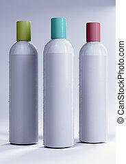 branca, tubo, garrafa, de, shampoo, condicionador, cabelo, enxague, gel, mouthwash
