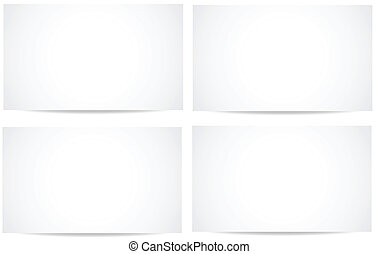 branca, vectors, bandeiras, em branco