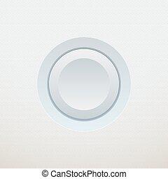 branca, vetorial, button., ilustração