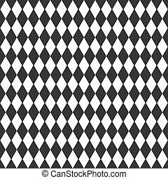branca, vetorial, experiência preta, rhombus