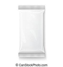 branca, wipes, package., molhados