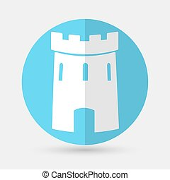 branca, xadrez, fundo, ícone