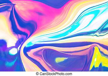 branché, fond, arc-en-ciel, résumé, coloré, holographic, ...