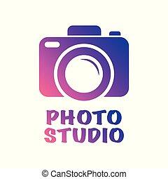 branché, plat, style, ton, appareil-photo enchaînement, symbole, isolé, illustration, ui., arrière-plan., vecteur, site, blanc, app, conception, logo, icône
