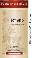 branch., 背景, ブドウ, ワイン