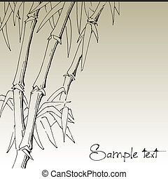 Branch of bamboo, vector background for design