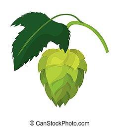 Branch of hops cartoon icon