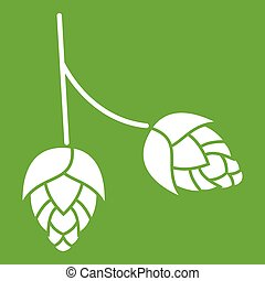 Branch of hops icon green