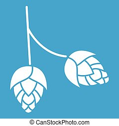 Branch of hops icon white