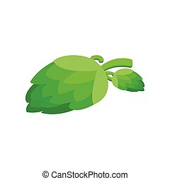 Branch of hops isometric 3d icon