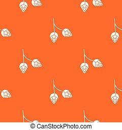 Branch of hops pattern seamless