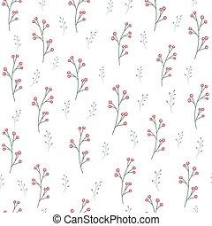 Branch pattern on white background