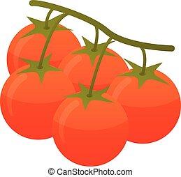 Branch tomato icon, isometric style