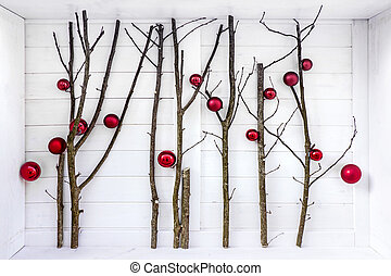 Branch tree as Christmas background