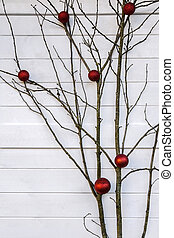 Branch tree as Christmas decorated