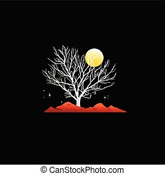 branch tree with night atmosphere