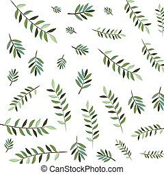 branch with leafs pattern