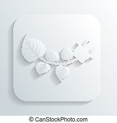 branch with leaves icon vector