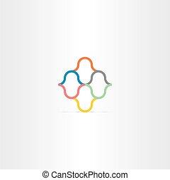 branche farve, abstrakt, element, vektor, logo
