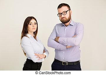 branche kvinde, kontor, mand